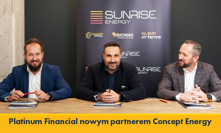 Concept Energy Podpisanie umowy wspolpracy z Platinum Financial